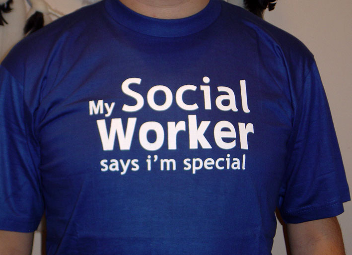 T-SHIRT / My Social Worker say i'm special - Click Image to Close