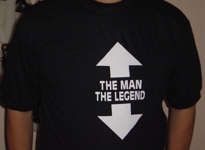 T-SHIRT / THE MAN/THE LEGEND - Click Image to Close