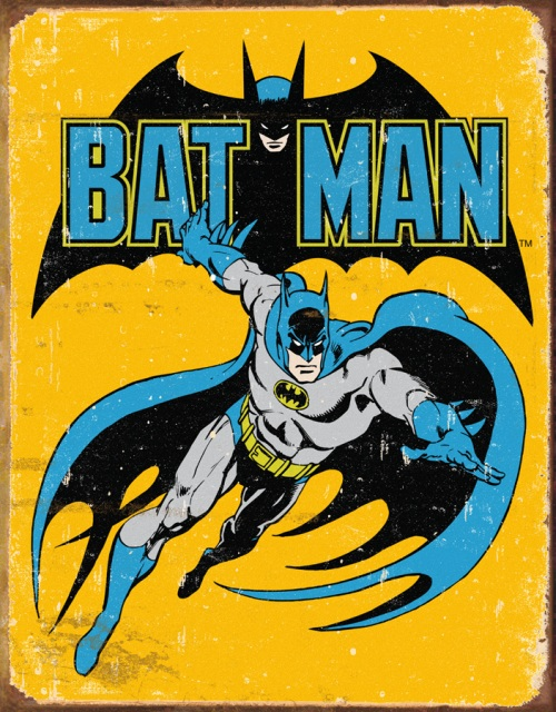 Classic Batman Comic Book Metal Sign