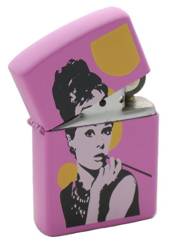 Audrey Hepburn Baby Pink Lighter